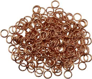 Jump Rings copper plated 1oz - House Of Aton