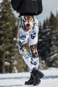 WOLFY WARM LEGGINGS Winter Leggings >> BADINKA