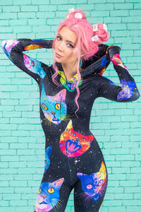 Cosmic Kitties Fit Onesie Fit Onesie >> BADINKA