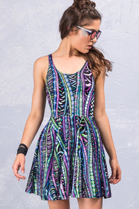 Psy Knot Skater Dress Dresses >> BADINKA