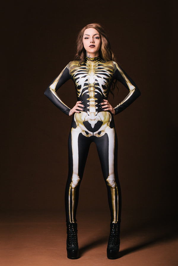 Graveyard Skeleton Costume Bodysuit >> BADINKA (close look)