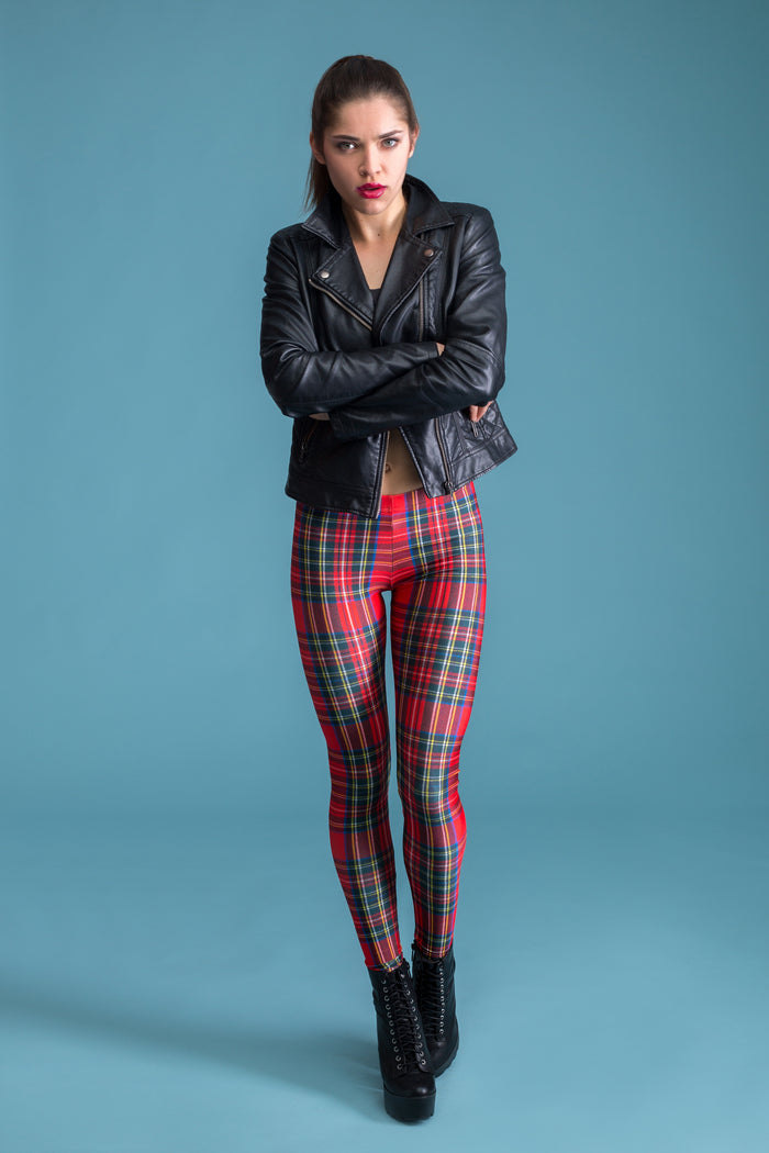 Red Tartan Leggings