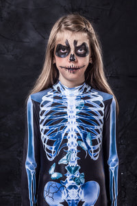 Girl's X-Ray Skeleton Costume Bodysuit >> BADINKA