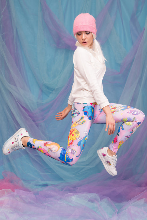 Rabbidelic Warm Leggings (Pink)