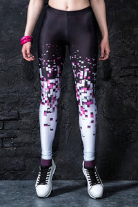 Pixel Collapse Leggings Leggings >> BADINKA