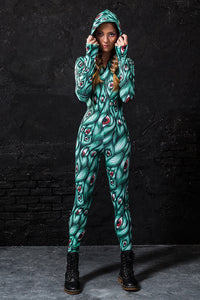 I See You Green Fit Onesie Fit Onesie >> BADINKA