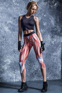 Strength Capri Leggings Capri Leggings >> BADINKA