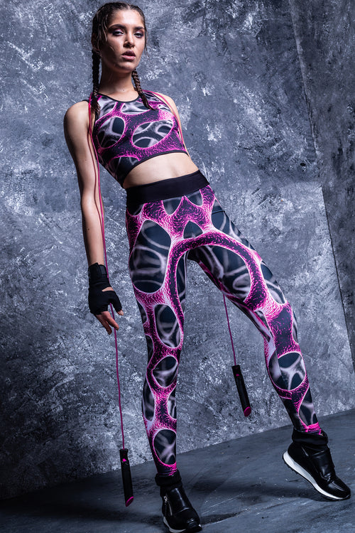Magenta Braincell Hw Leggings