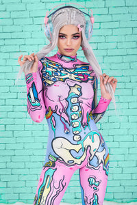 Kawaii Pop Art Costume Bodysuit >> BADINKA
