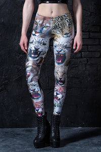 Friendly Kitties Leggings Leggings >> BADINKA
