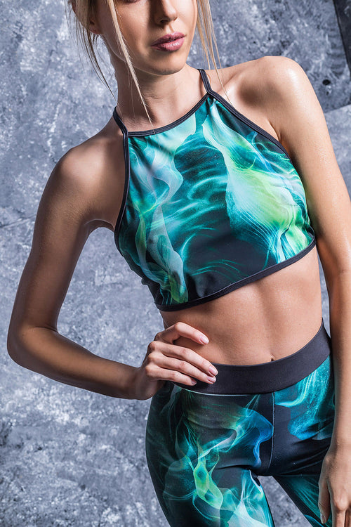 Green Fog Crop Top