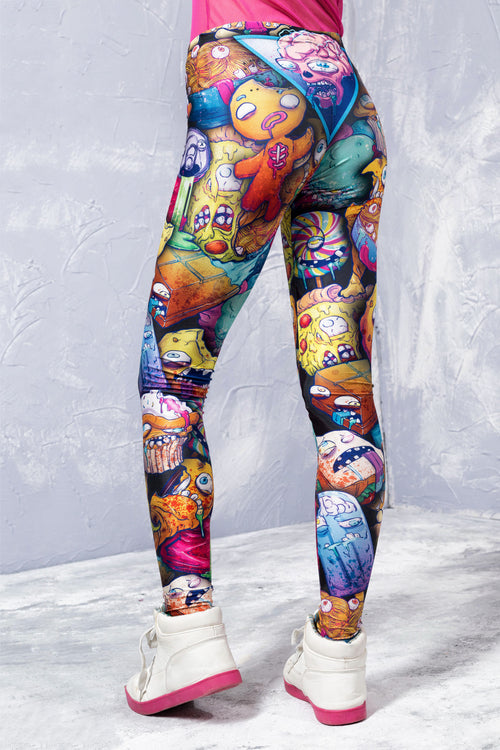 JUNK FOOD APOCALYPSE LEGGINGS