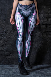 Mechanical Leggings Magenta Leggings >> BADINKA