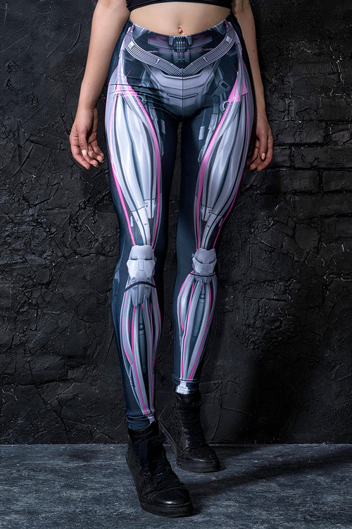 Mechanical Leggings Magenta