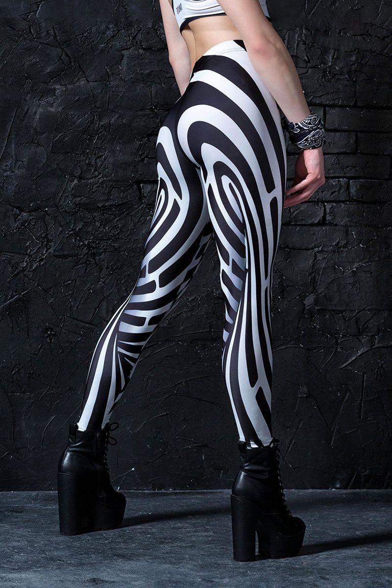 Illusion Leggings Leggings >> BADINKA