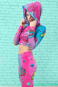 COSMIC MUNCHIEZ HOODED TOP TOP >> BADINKA