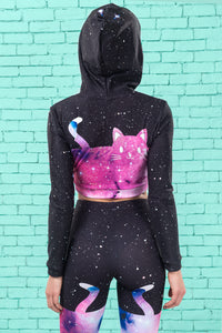 Space Kitties Warm Hooded Top TOP >> BADINKA