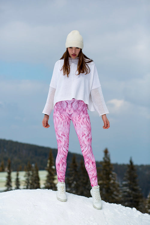 PINK FURR WARM LEGGINGS