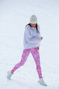 PINK FURR WARM LEGGINGS Winter Leggings >> BADINKA