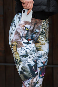 Friendly Kitties Warm Leggings Winter Leggings >> BADINKA