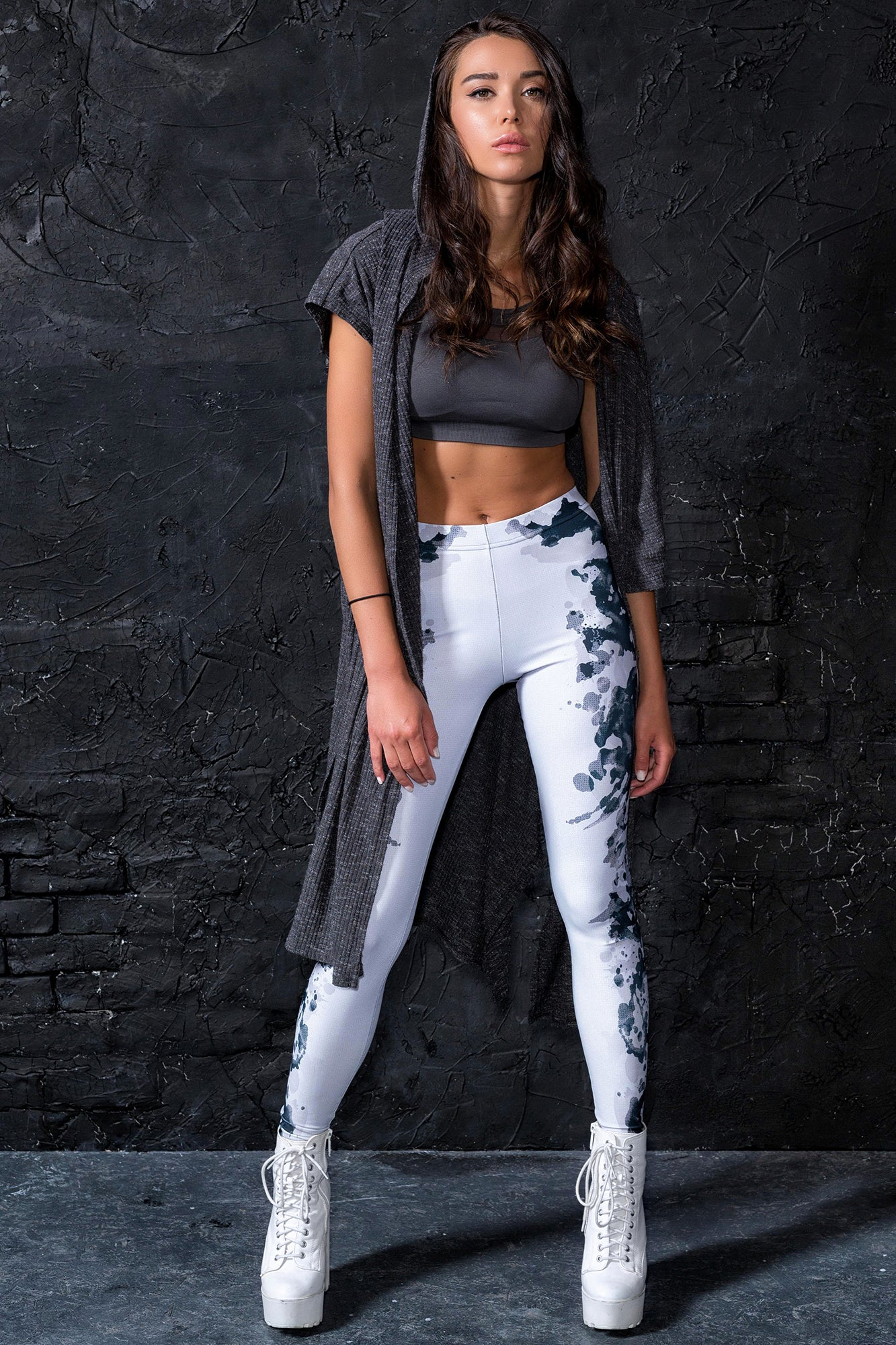 Rorschach Mask Leggings Leggings >> BADINKA