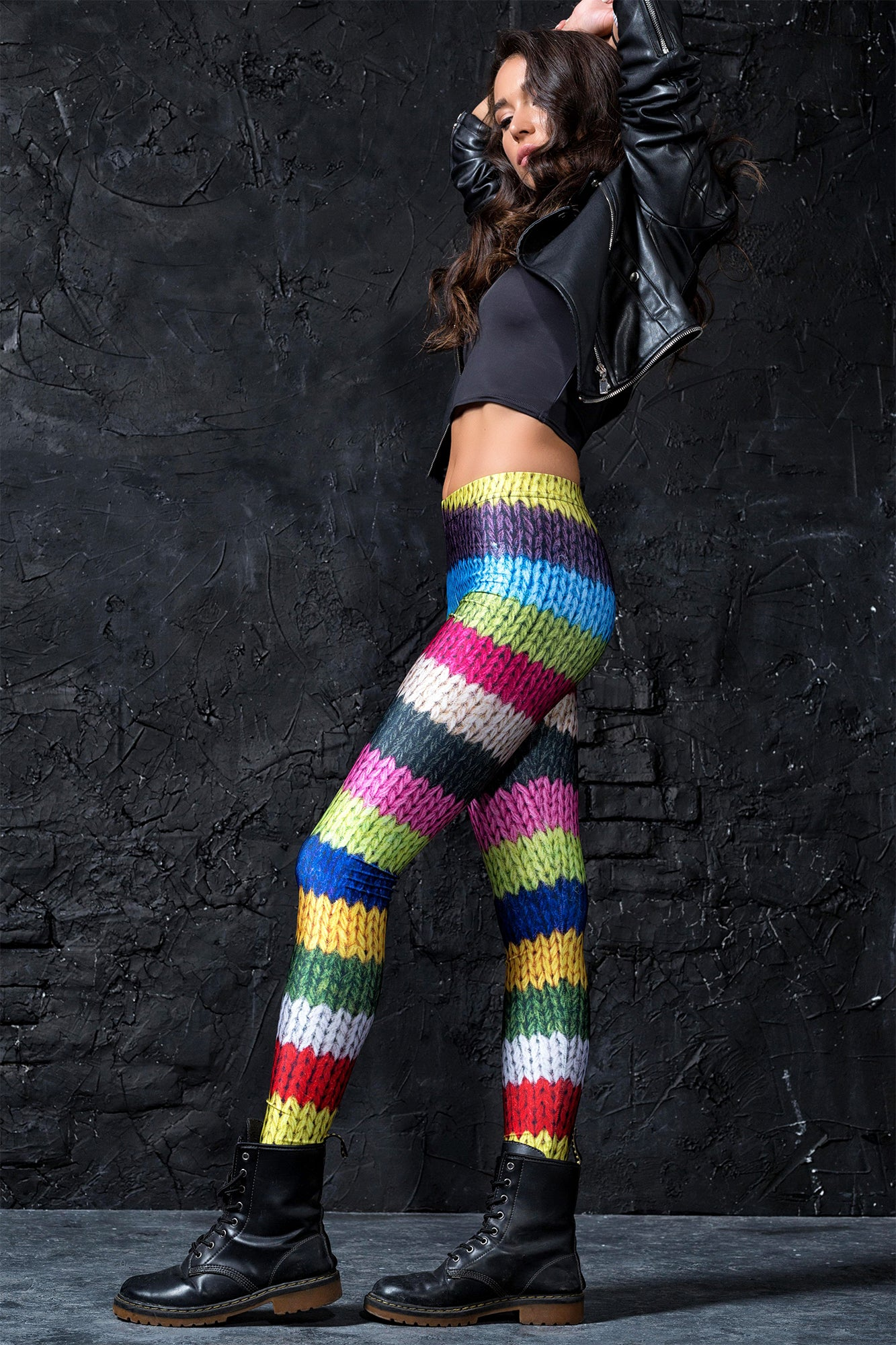 Wool Leggings Leggings >> BADINKA