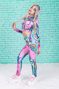 Kawaii Pop Art Warm Leggings Winter Leggings >> BADINKA