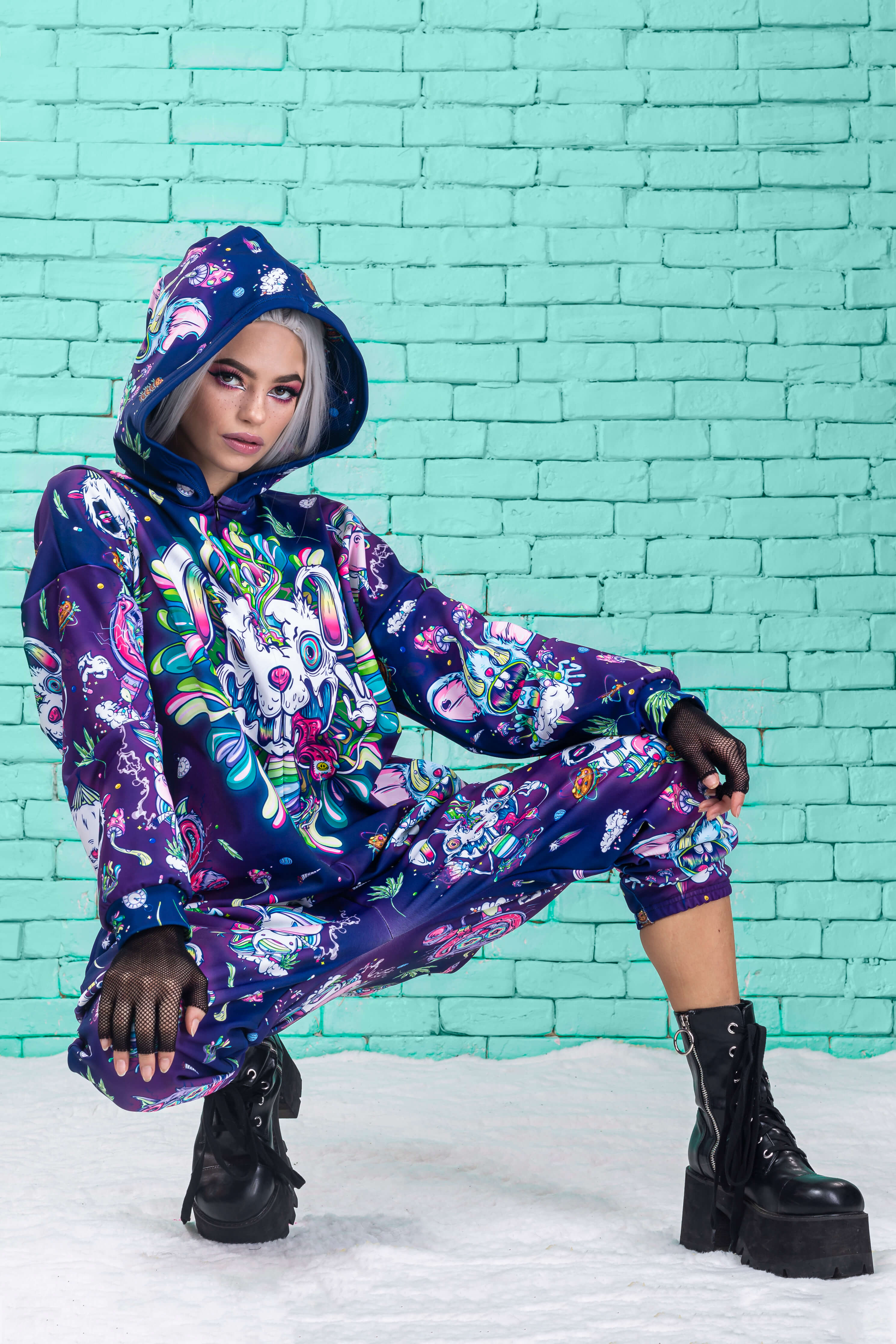 Psychotropic Jungle Onesie Onesies >> BADINKA