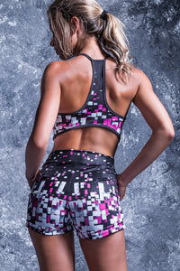 PIXEL COLLAPSE ACTIVE SHORTS Shorts >> BADINKA