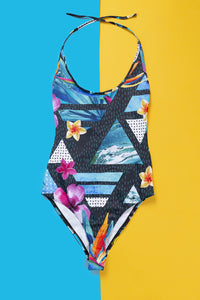 Jungle Floral One Piece Swimwear >> BADINKA