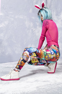 JUNK FOOD APOCALYPSE LEGGINGS Leggings >> BADINKA