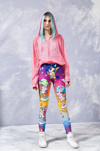 CUTNESS OVERLOAD RAINBOW LEGGINGS Leggings >> BADINKA
