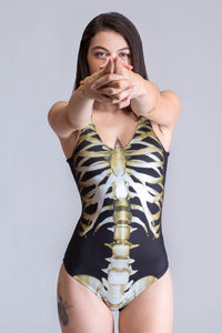 Original Skeleton Swimsuit Swimwear >> BADINKA