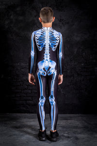 Boys X-Ray Skeleton Costume Bodysuit >> BADINKA