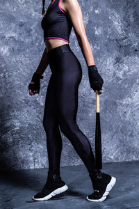 BLACK ACTIVE HW LEGGINGS High Waist Leggings >> BADINKA