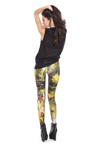Monet's Garden Leggings Leggings >> BADINKA