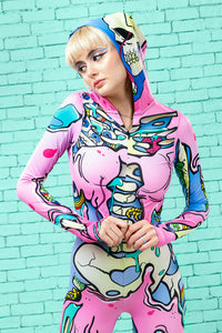 Kawaii Pop Art Fit Onesie Fit Onesie >> BADINKA