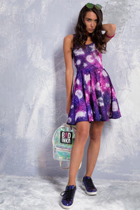 Hitchhiker's Galaxy Skater Dress Dresses >> BADINKA