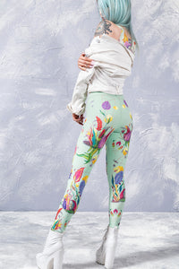 Fantasy Blossom Leggings Leggings >> BADINKA