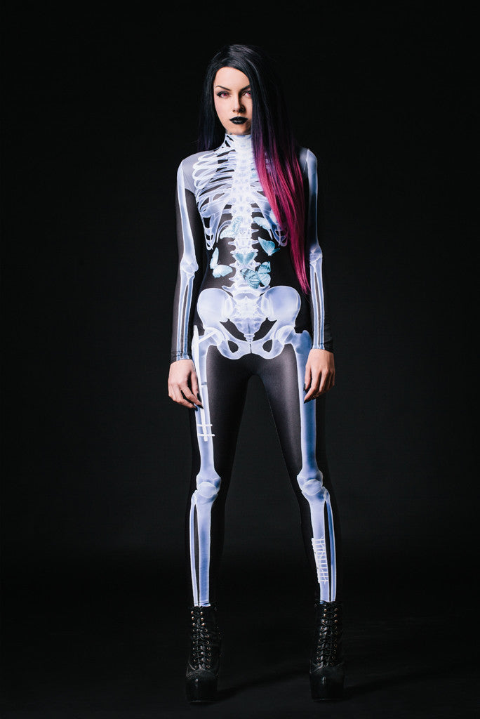 X-Ray Skeleton Costume Bodysuit >> BADINKA (close look)