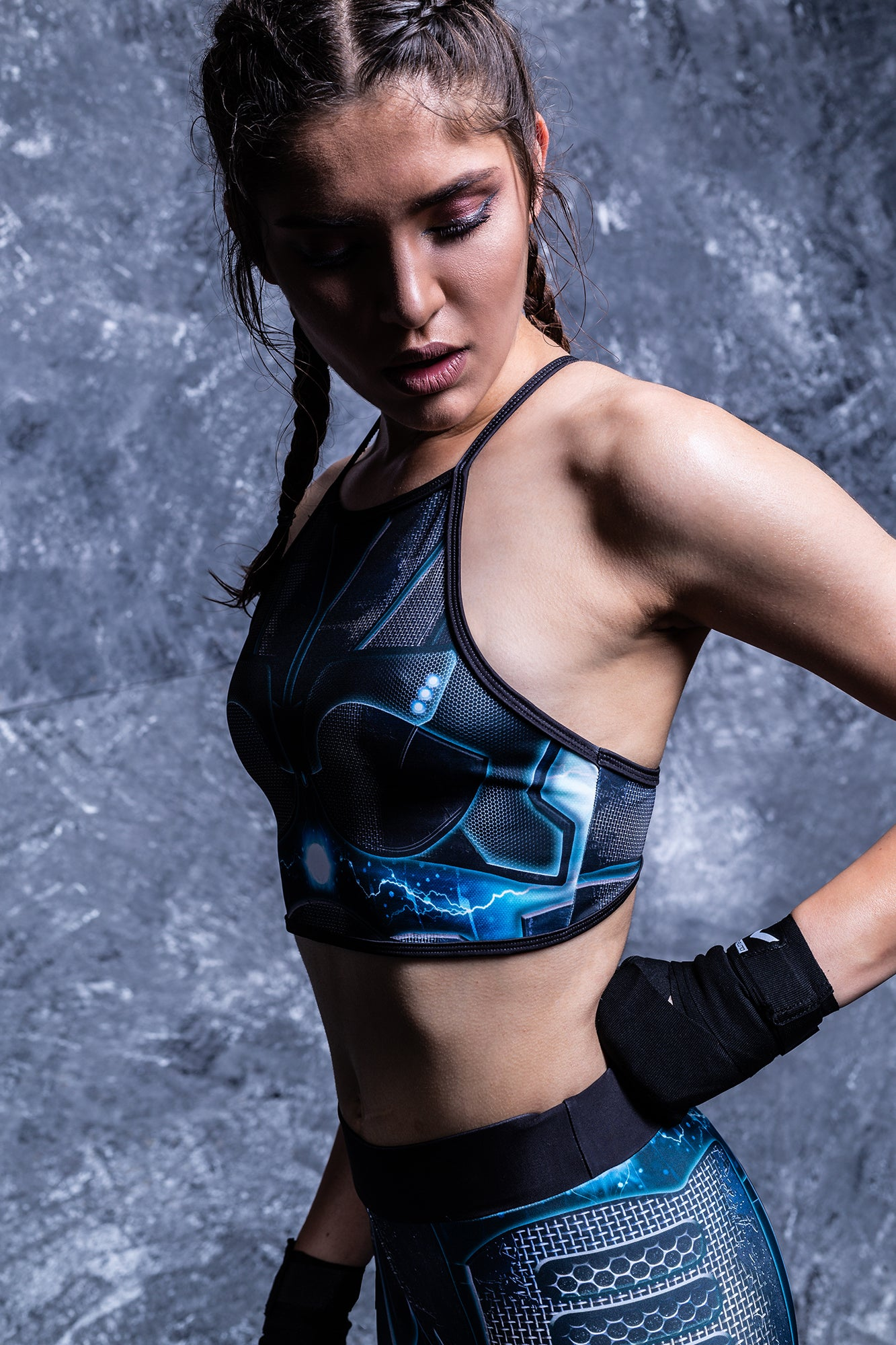 Riot Robot Crop Top Active Top >> BADINKA