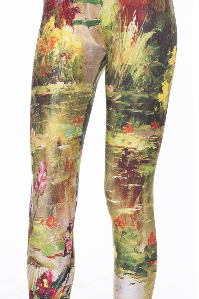 Monet's Garden Leggings Leggings >> BADINKA (close look)