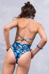 I SEE YOU BLUE ONE PIECE Swimwear >> BADINKA