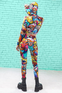 JUNK APOCALYPSE  WARM LEGGINGS Winter Leggings >> BADINKA