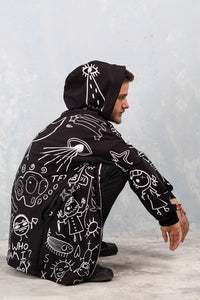 UGLEY DARK ZIPPY HOODIE Hoodies >> BADINKA