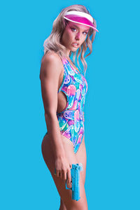 Happy Pillz One Piece Swimwear >> BADINKA