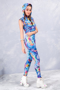 ICE FRACTALZ LEGGINGS Leggings >> BADINKA