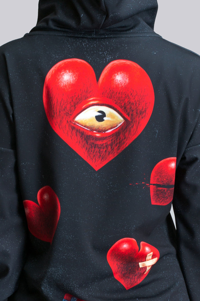 Sick Hearted Hoodie (close look)