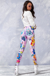 PINK RABBIDELIC LEGGINGS Leggings >> BADINKA