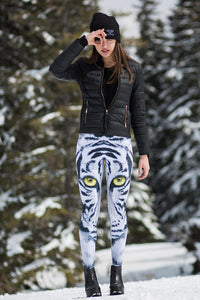EYE OF THE STORM WARM LEGGINGS Winter Leggings >> BADINKA